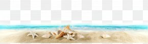 Beach Seaside Material - Blue Sky Turquoise Wallpaper PNG