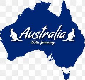 Blue Map Of Australia - Australia Blank Map World Map Clip Art PNG