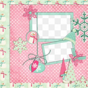 Pink Frame - Christmas Picture Frame Clip Art PNG