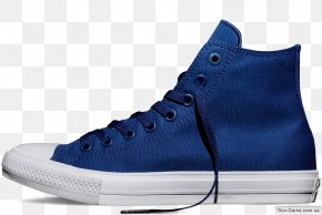 Blue Converse - Chuck Taylor All-Stars Converse CT II Hi Black/ White Shoe Sneakers PNG