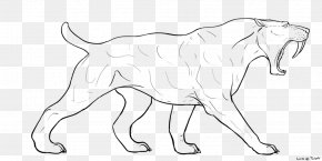 Cute Cartoon Tooth - Saber-toothed Cat Art Felidae Drawing PNG