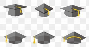 Simple Black Cartoon Graduation Cap Bachelor Of Design - Hat Graduation Ceremony PNG