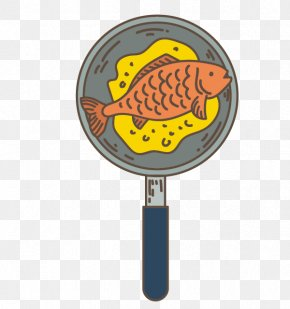 Vector Pan Fried Fish - Seafood Barbecue Frying Pan Roasting PNG