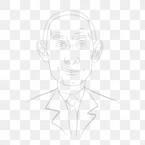 Vladimir Putin - Drawing Portrait Line Art Caricature PNG