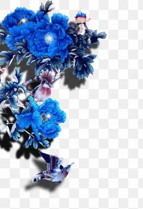 Beautiful Blue Flowers - Flower Blue Moutan Peony PNG