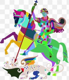 The Man On Horseback - Modern Art Line Art Clip Art PNG