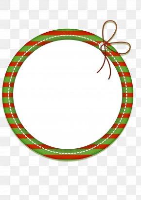 Circle Frame - Christmas Adobe Illustrator PNG