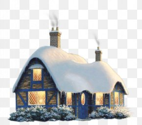European Style House In Winter - House Clip Art PNG