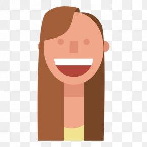 Long Hair - Long Hair Chestnut Brown Hair Face PNG