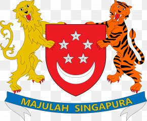 SINGAPORE - Coat Of Arms Of Singapore Flag Of Singapore PNG