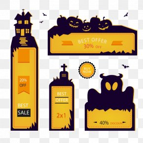 Creative Halloween Promotional Banner Vector - Halloween Banner Poster Advertising PNG