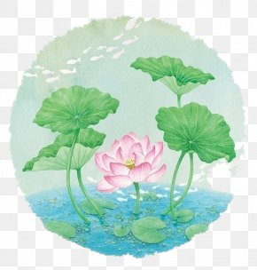 Watercolor Lotus - Art Watercolor Painting Illustration PNG
