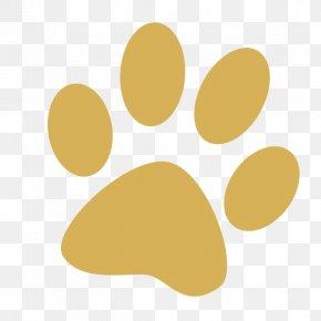 Simple Yellow Dog Feet Footprints - Dog Paw Cat Tiger Clip Art PNG
