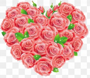Red Roses Heart Clipart - Garden Roses Centifolia Roses Floral Design Pink Cut Flowers PNG