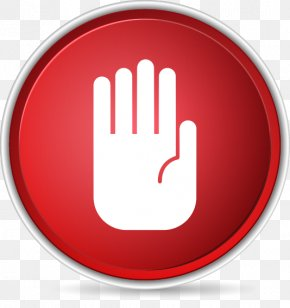Vector Illustration Stop Sign Gesture - Shutterstock Turkey Icon PNG