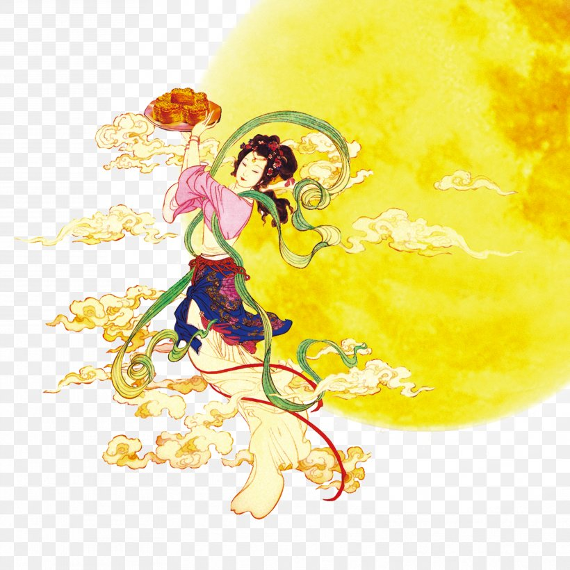 Mid-Autumn Festival Chang'e Mooncake Traditional Chinese Holidays Moon Rabbit, PNG, 3543x3543px, Mid Autumn Festival, Art, Chang E, Chuseok, Fictional Character Download Free