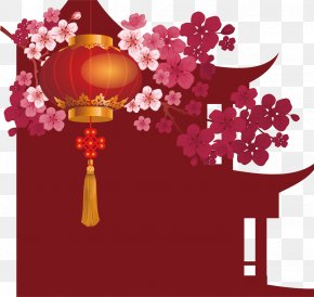 Small Red Chinese New Year Material - Chinese New Year Lantern Festival Christmas Rooster PNG
