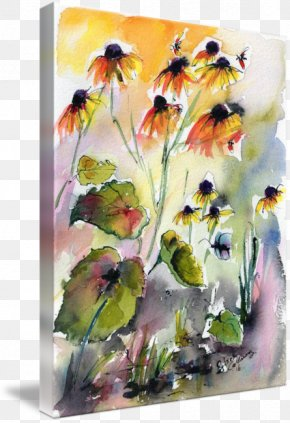 Ink Watercolor Painting - Floral Design Watercolor Painting Watercolour Flowers Paper PNG