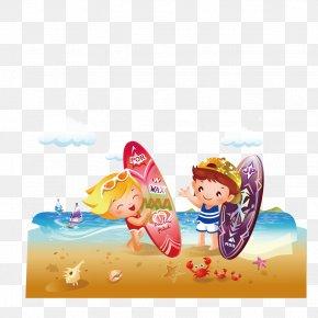 Surfing In Children - Big Wave Surfing Surfboard PNG