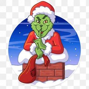 Christmas Tree - Christmas Tree Grinch Santa Claus Telegram Sticker PNG