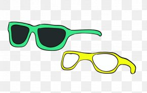 Sunglasses - Sunglasses Goggles Green PNG