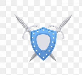 Blue Shield - Shield Sword Download PNG
