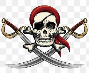 The Pirates Painted Her Eyes - Skull Piracy Wall Decal Clip Art PNG