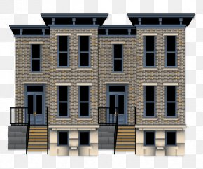 In A Row - Terraced House House Plan Interior Design Services Federal Architecture PNG