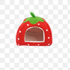 Red And White Strawberry Cat Litter - Cat Puppy Dog Cage Pet PNG