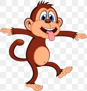 Naughty Monkey - Monkey Animation Cartoon Clip Art PNG