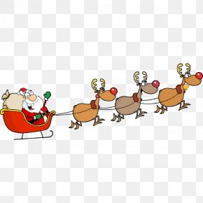 Reindeer - Santa Claus's Reindeer Santa Claus's Reindeer Christmas Clip Art PNG