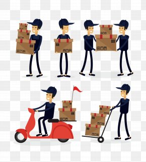 Delivery City Delivery - Courier Delivery Mail Carrier Logistics PNG