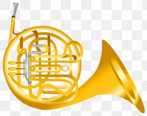French Horn Transparent Clipart - French Horn Clip Art PNG