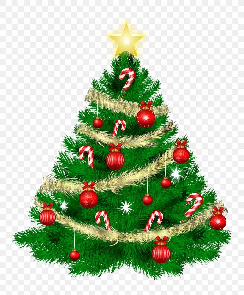 Christmas Tree Santa Claus Clip Art, PNG, 1125x1361px, Christmas Tree, Christmas, Christmas Card, Christmas Decoration, Christmas Lights Download Free