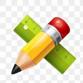 Learning Tool Pencil Ruler - Paper Pencil Adobe Illustrator PNG