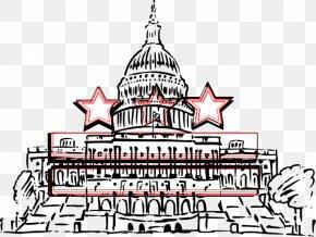 D.C Cliparts - United States Capitol Washington Monument Clip Art PNG