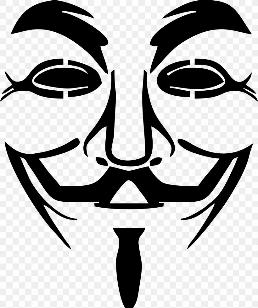 Anonymous Guy Fawkes Mask Clip Art, PNG, 1603x1920px, Anonymous, Anonymity, Art, Artwork, Black And White Download Free