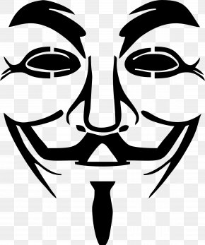 V For Vendetta - Anonymous Guy Fawkes Mask Clip Art PNG