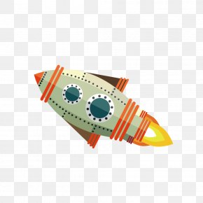 Creative Color Cartoon Rocket - Rocket Drawing Cartoon PNG