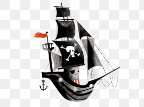 Cartoon Pirate Ship - Piracy Brothers Studio Co PNG