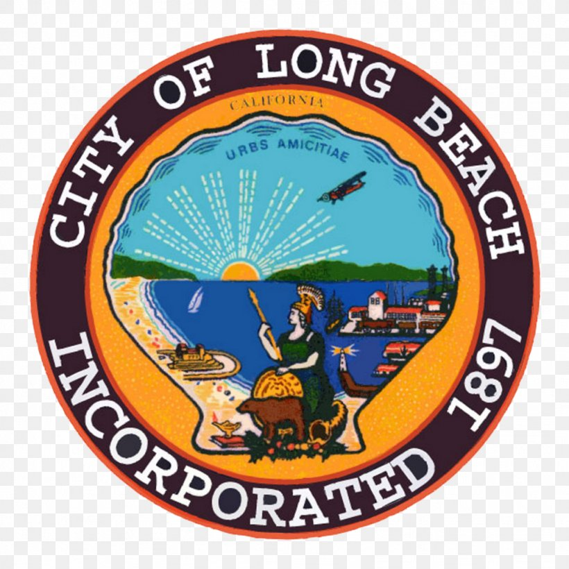 Logo City Of Long Beach Naples Png 1024x1024px Logo Area Badge Beach California Download Free