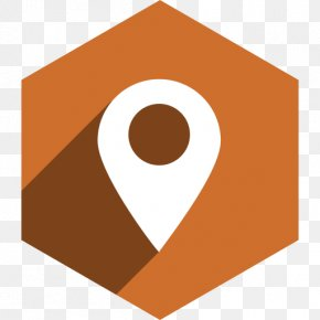 Brown Map Icon Location - Clip Art Social Media PNG
