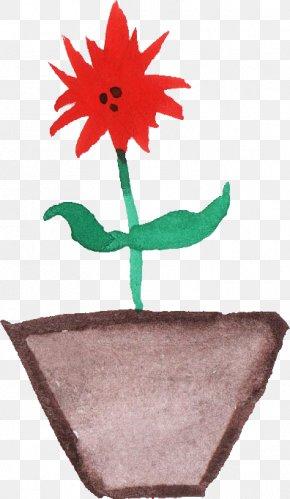 Watercolor Pot - Petal Flowerpot Watercolor Painting PNG