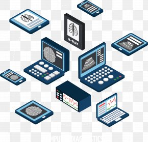 Blue Computer Vector - Computer PNG