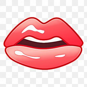 Lipstick Tooth - Emoji Face PNG