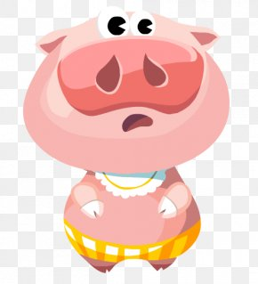 Smile Animation - Pig Cartoon PNG