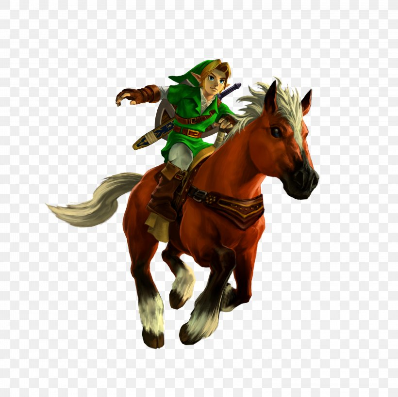 The Legend Of Zelda: Ocarina Of Time 3D The Legend Of Zelda: Breath Of The Wild The Legend Of Zelda: Skyward Sword, PNG, 3200x3200px, Legend Of Zelda Ocarina Of Time 3d, Animal Figure, Cowboy, Epona, Horse Download Free