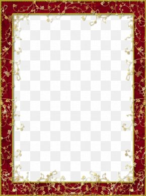 Maroon Border Frame Clipart - Picture Frame Display Resolution PNG