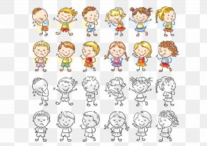 Vector Cartoon Children Painted - Royalty-free Child Illustration PNG