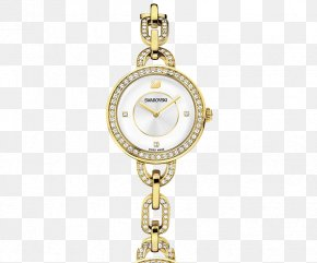 Gold Diamond Watch - Watch Swarovski AG Bracelet Swiss Made Colored Gold PNG